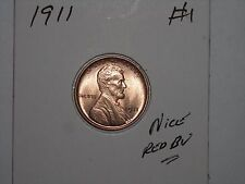 wheat penny 1911 LINCOLN CENT NICE RED BU 1911-P LOT #2 GREAT RED UNC LUSTER