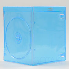 1pc Empty Blu-ray Logo Case 7mm Single CD DVD Disc Storage Box Replacement Blue