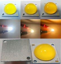 High power 50W COB Leds Chip With 60-80° lens White/Warm/Golden 1500mA DC30-36V
