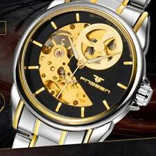 Skeleton Army Watch Automatic Mechanical Sport Men's Stainless Steel Military