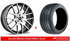 "Alloy Wheels & Tyres 20"" SuperMetal Trident For VW Transporter T6 15-17"