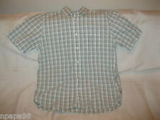 Timberland Mens Short Sleeve Button Down Checkered  Casual Shirt SIZE LARGE