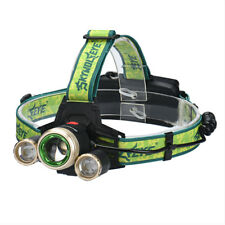 15000Lm CREE XM-L 3 x T6 LED Zoom Headlight Headlamp Lamp 18650 Battery Charger