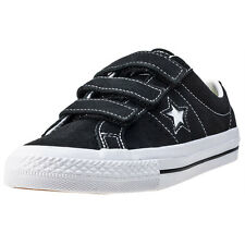 Converse One Star 3v Ox Kids Trainers Black White Branded Footwear