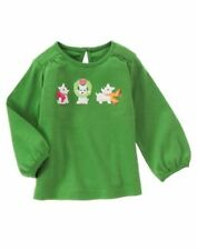 "NWT GYMBOREE GIRLS ""CHERRY ALL THE WAY"" GREEN KNIT TOP WITH SCOTTIE DOGS SIZE 4T"