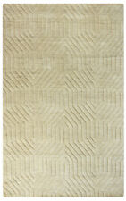 Rizzy Rugs Beige Geometric Angled Peaks Contemporary Area Rug Solid TC8580