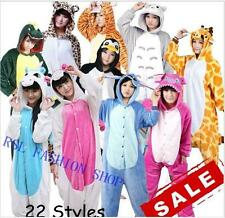 Unisex Adult Pajamas Kigurumi Cosplay Costume Animal Halloween Onesie Sleepwear