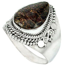 Natural ammolite (canadian) 925 sterling silver ring nepali size 8 k12582