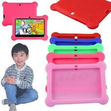 "Soft Silicone Gel Case Cover For 7"" Android 4.4 Q88 A23 A13 Tablet Kids Child BA"
