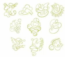 Gilded Doves Redwork Machine Embroidery-40 Designs-by Anemone Embroidery