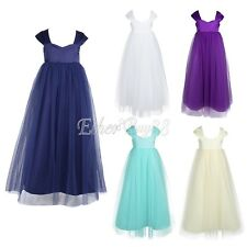 Pageant Flower Girl Dress Kids Birthday Wedding Bridesmaid Gown Formal Dress NWT