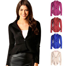 Womens Casual Business Slim fit One Button Suit Blazer Coat Jackets Outwear