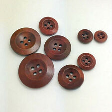 50Pcs 4 Holes Wooden Round Buttons Clothing Buttons DIY Sewing Craft Goodish