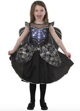 Halloween Spider Witch Light-Up fancy dress costume with Wings 3-4 5-6 7-8 9-10