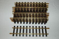 10 LGB G SCALE BRASS STRAIGHT TRAIN TRACK PIECES ACCESSORY LAYOUT