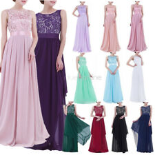 Women Long Chiffon Evening Formal Party Cocktail Dress Bridesmaid Prom Ball Gown