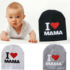 "Cute Toddler Kids Girl&Boy Baby Infant Cotton Hat Beanie Cap ""I love MAMA/PAPA"""