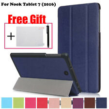 Magnetic Smart Case Leather Stand Cover For Nook Tablet 7 (2016) With Gifts UK