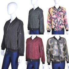 Nineties Style Bomber Jacket 8 10 12 Black/Red/Green/Camo/Sheer/Floral/Pink NEW