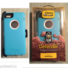 New OtterBox Defender Case for iPhone 6/6S with Holster Teal/White Retail Box