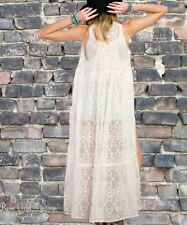 NWT Boutique Boho Easel Lace Duster - Ivory - Small, Medium & Large