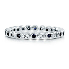 BERRICLE Sterling Silver Round CZ Anniversary Eternity Band Ring 0.44 Carat