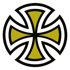 INDEPENDENT Truck Co Skateboard CUT CROSS STICKER YELLOW 4in