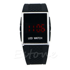 Luxury Unisex Sport LED Digital Date Lady Men Women Silicone Watch Wristwatch