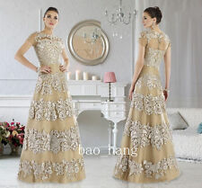 2016 Mother Of Bride Dress Floor Length Wedding Lace Evening Mothers Formal Gown