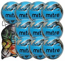 Mitre Mission Training Football 10 Ball Pack with Mitre Bag