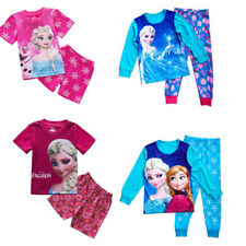 Baby Kids Girls Frozen Elsa Anna Pyjamas Sleepwear Pajamas T-Shirt+Pants 2~7T