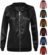 New Womens Festival Lightweight Anorak Rain Coat Bomber Top Jacket