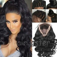 Super Long Wavy Brazilian Virgin Human Hair Lace Front Wig Full Lace Wig Soft h1