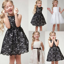 Lace Flower Girls Dress Baby Wedding Party Pageant Formal Bridesmaid Dresses