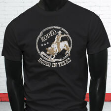 COWBOY RODEO IN TEXAS COUNTRY WESTERN PROUD BULL Mens Black T-Shirt