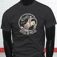 COWBOY RODEO IN TEXAS COUNTRY WESTERN PROUD BULL Mens Charcoal T-Shirt