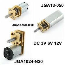 DC12V/6V/3V Mini Speed Reduction Metal Gear Box Motor w Gearwheel Shaft 5-333RPM