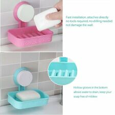 Wall Suction Cup Soap Dish Box Wall Corner Triangle Shelf Suction Cup Storage