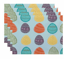The Holiday Aisle Funky Junky Eggs-ellent! Placemat Set of 4