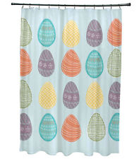 The Holiday Aisle Funky Junky Eggs-ellent! Shower Curtain
