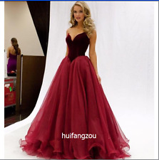 Red Wedding Dresses Bridal Gowns Formal A Line Size 4 6 8 10 12 14 16 18 Plus