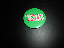REZILLOS- 1978 Large 50mm Green Logo  Vintage Original Badge -Clash Damned Jam