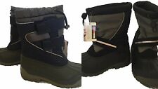 Lands' End New Boys Snow Boots Plow Boots Insulated Fleece Lined Waterproof
