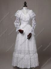 White Edwardian Victorian Downton Abbey Vintage Wedding Gown Bridal Dress 392
