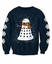 KIDS DALEK SNOWMAN DOCTOR WHO INSPIRED CHILDRENS CHRISTMAS SWEATSHIRT JUMPER