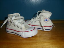GIRLS/BOYS CONVERSE ALL STAR HI TOP PUMPS, SIZE UK 3 INFANT GOOD CONDITION