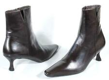 new STUART WEITZMAN 'Mitzy' dark brown calf leather ANKLE BOOTS Shoes - CLASSY