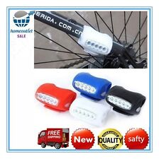 1 x Bike Cycling 7 LED Frog Silicone Front Lamp Safety Warning Head Light F HT