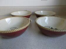 lot of 4 SOUP SALAD BOWLS Sonoma HAPPY TRAILS Life style WESTERN cowboy horse