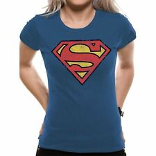 Women's Superman Vintage Logo Fitted T-Shirt